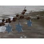 Set of 2 Blue Christmas Star Decorations